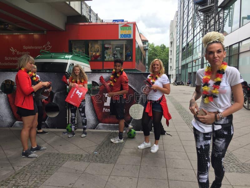German football fans stock photography