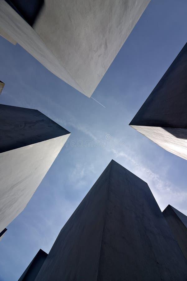 Berlin Germany June 13 2018 Holocaust munument stock abbildung
