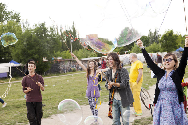 Download Making Soap Bubbles At Mauerpark Editorial Stock Photo - Image: 30062158