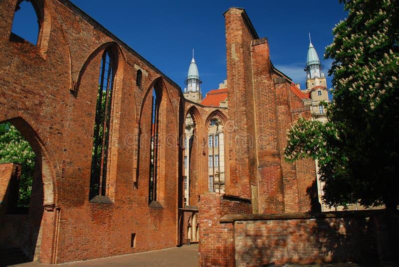 berlin germany klosterkirche fördärvar arkivbild