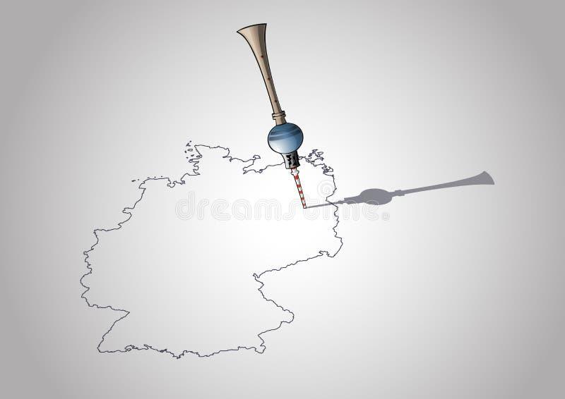 berlin Germany mapy wierza tv ilustracja wektor