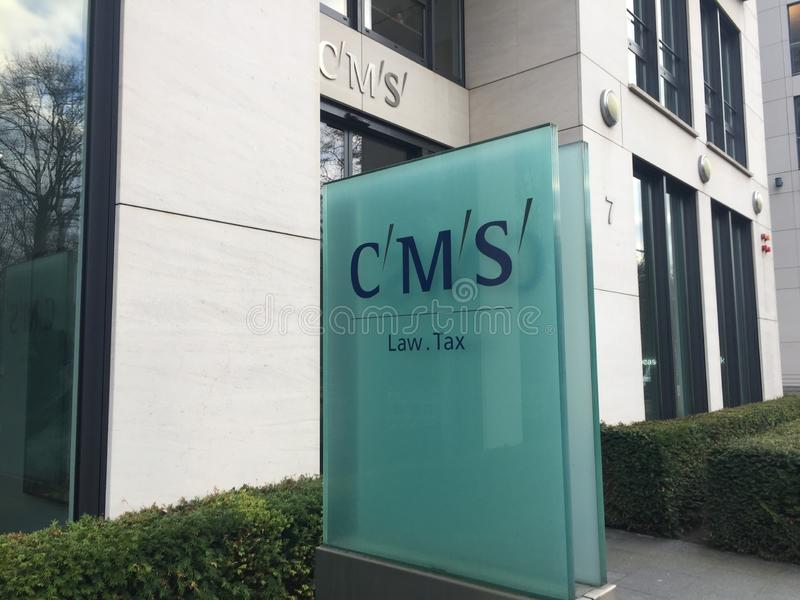 CMS law firm signboard stock images