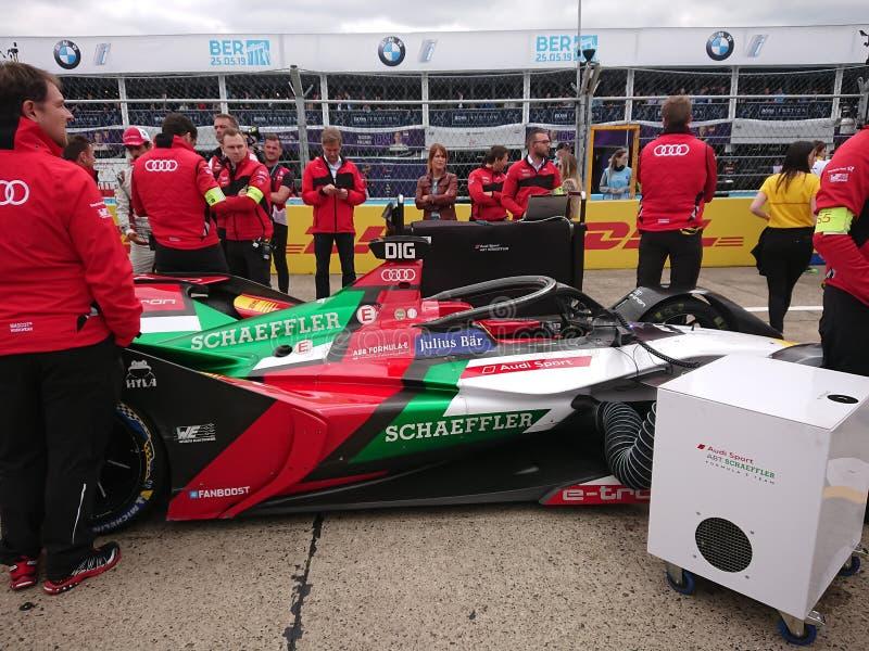 Audi Sport Abt Schaeffler race car stock photos