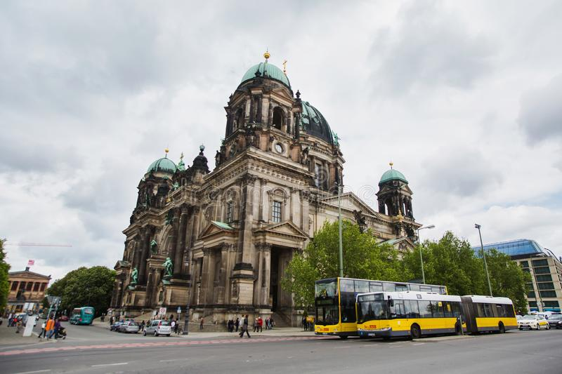 BERLIN, GERMANY - MAY 09, 2014: Beautiful view of historic Berliner Dom. The big cathedral. Travel through Europe. Tourism royalty free stock photo