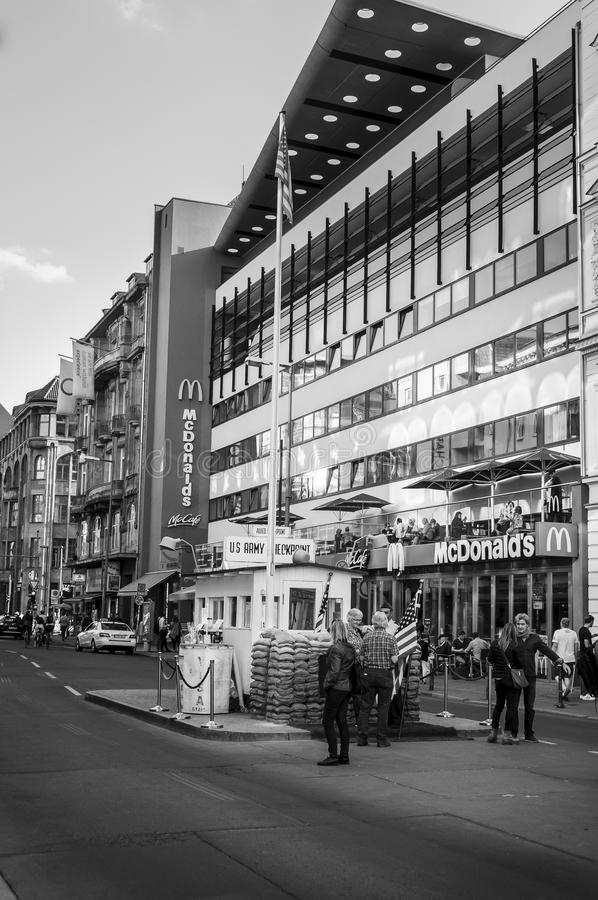 BERLIN, GERMANY, May 10 2016, Checkpoint Charlie stock images