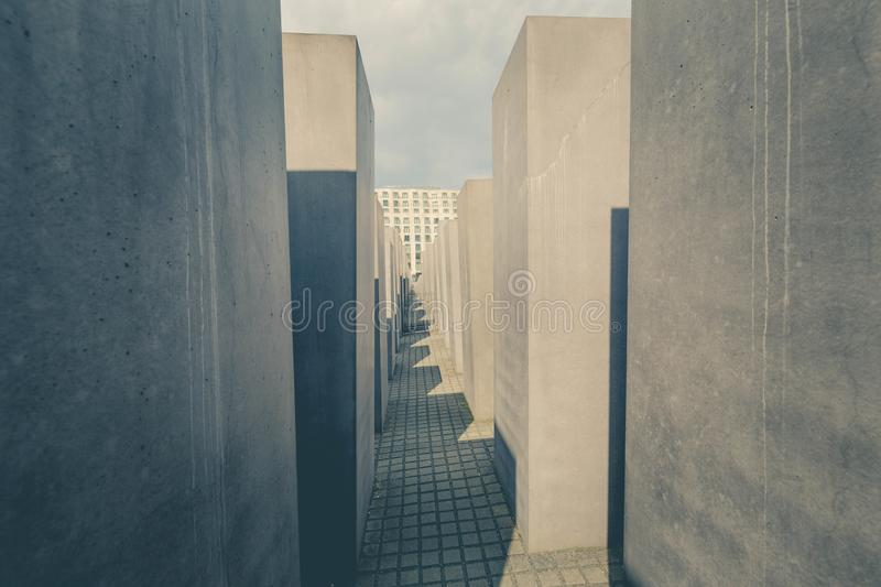 Berlin, Germany - may 2017 Holocaust Memory monument royalty free stock photos