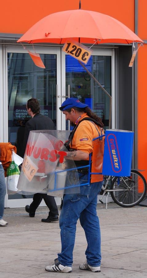 A Mobile Hot Dog Vendor royalty free stock photos