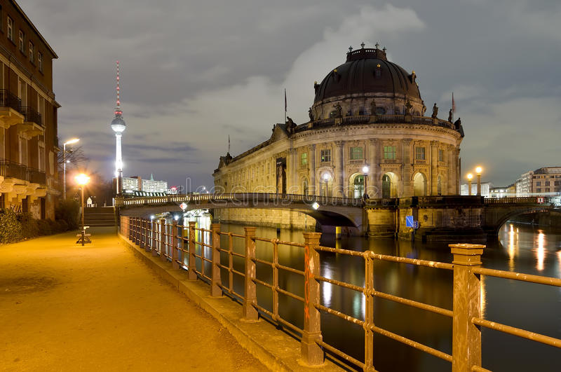 Download Berlin, germany, at night editorial stock photo. Image of bode - 17920588