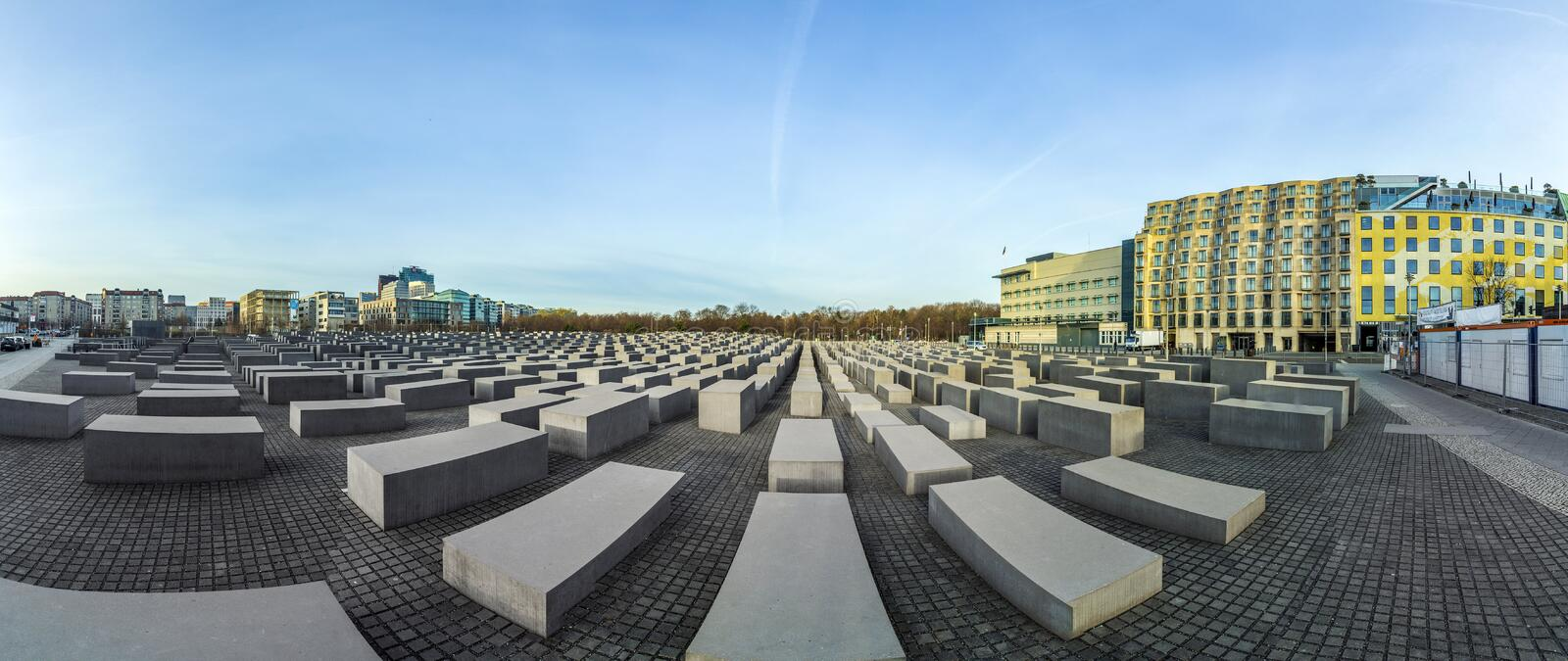 BERLIN, GERMANY - NOV 17, 2014: View of Jewish Holocaust Memorial, Berlin, Germany stock photography