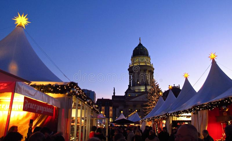 German Christmas market Berlin Germany stock images