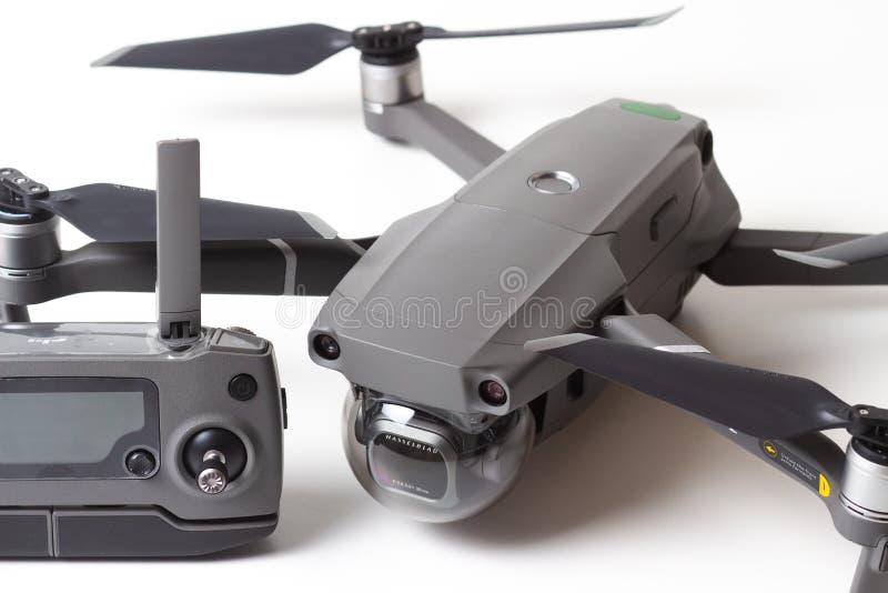Berlin, Germany - november 21, 2018: New drone DJI Mavic 2 pro with remote. stock photos