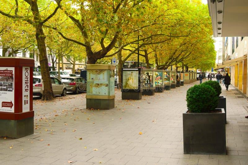 BERLIN, GERMANY - OCTOBER 21 2015: Famous shopping street Kurfurstendamm (Ku'Damm) in Berlin. royalty free stock images