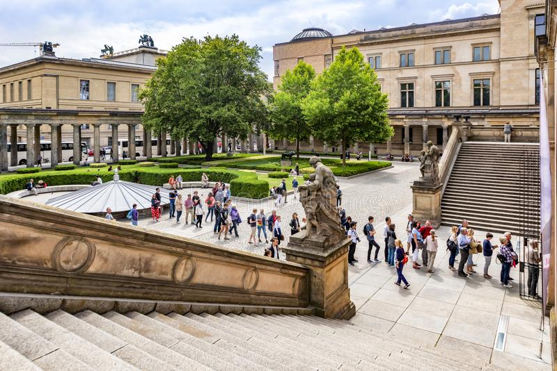 Berlin Germany opinión del 10 de julio de 2018 del National Gallery nacional del museo, en la isla de museo, donde para el exhibi fotos de archivo