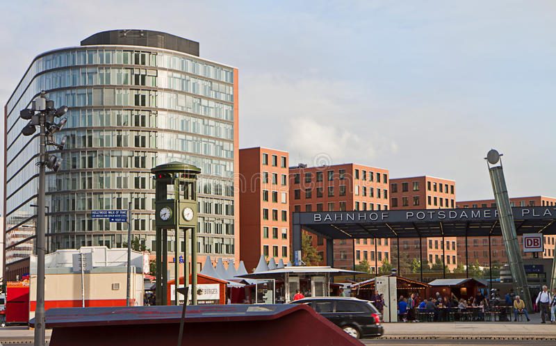 Berlin, Germany - potsdamer Platz at sunset royalty free stock image