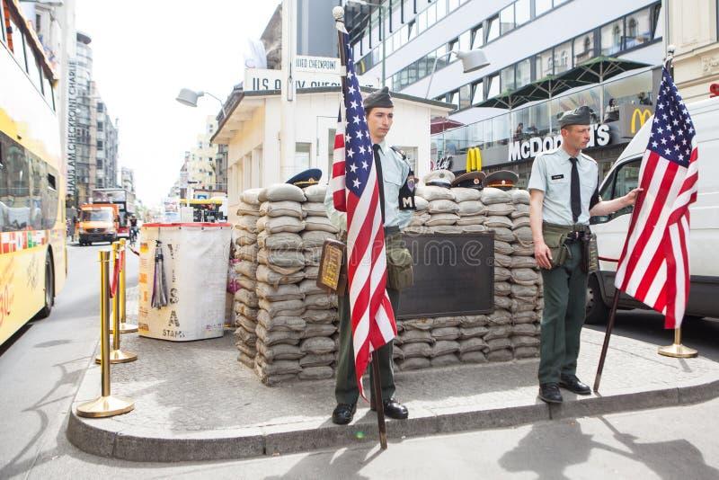 berlin Germany - punkt kontrolny zdjęcia royalty free