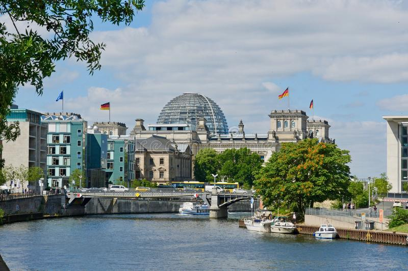 Berlin, Germany. The Reichstag stock images