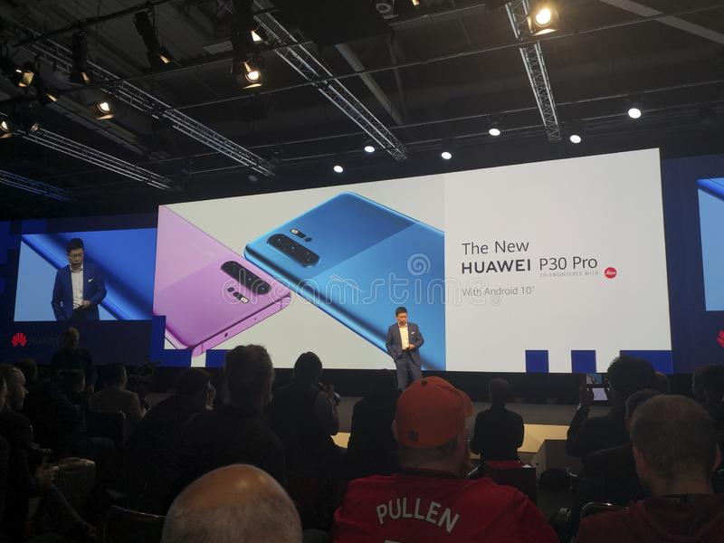 Huawei Keynotes at IFA 2019 royalty free stock photos