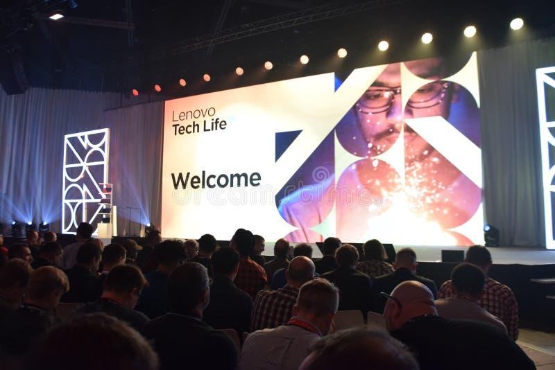 Lenovo TehcLife presentation at IFA 2019 stock images