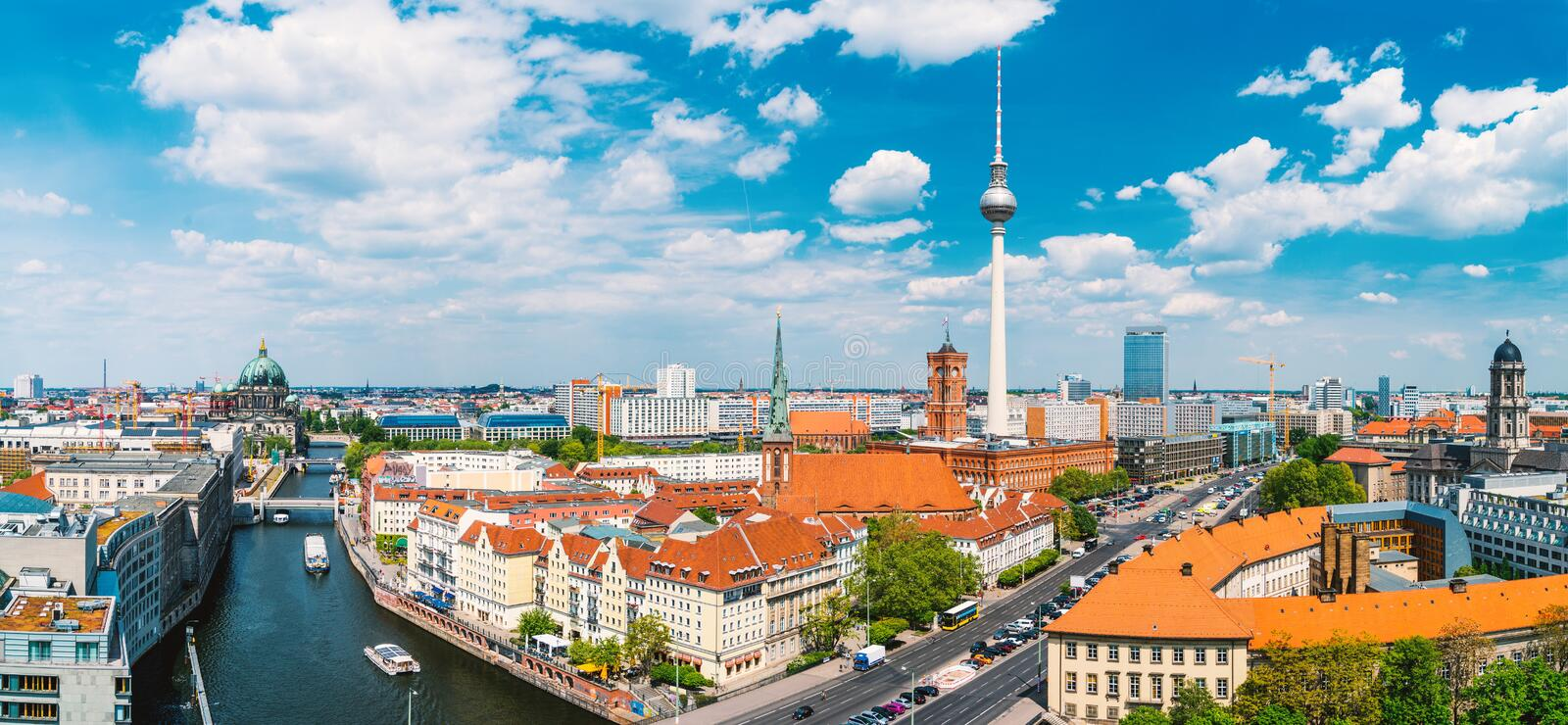 Berlin, Germany, during summer stock image