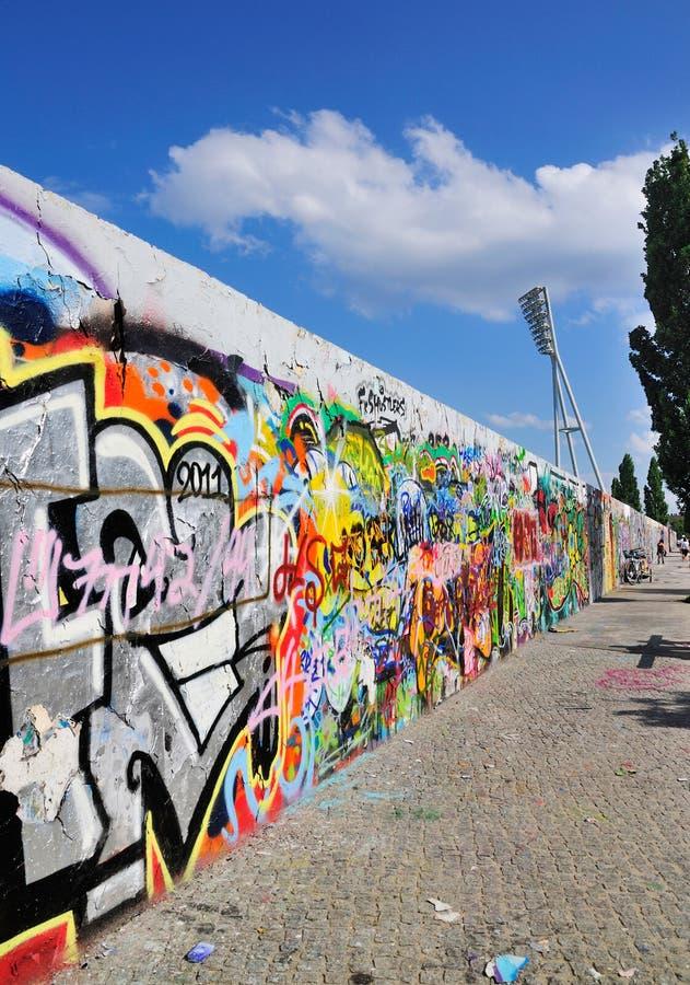 berlin germany vägg fotografering för bildbyråer