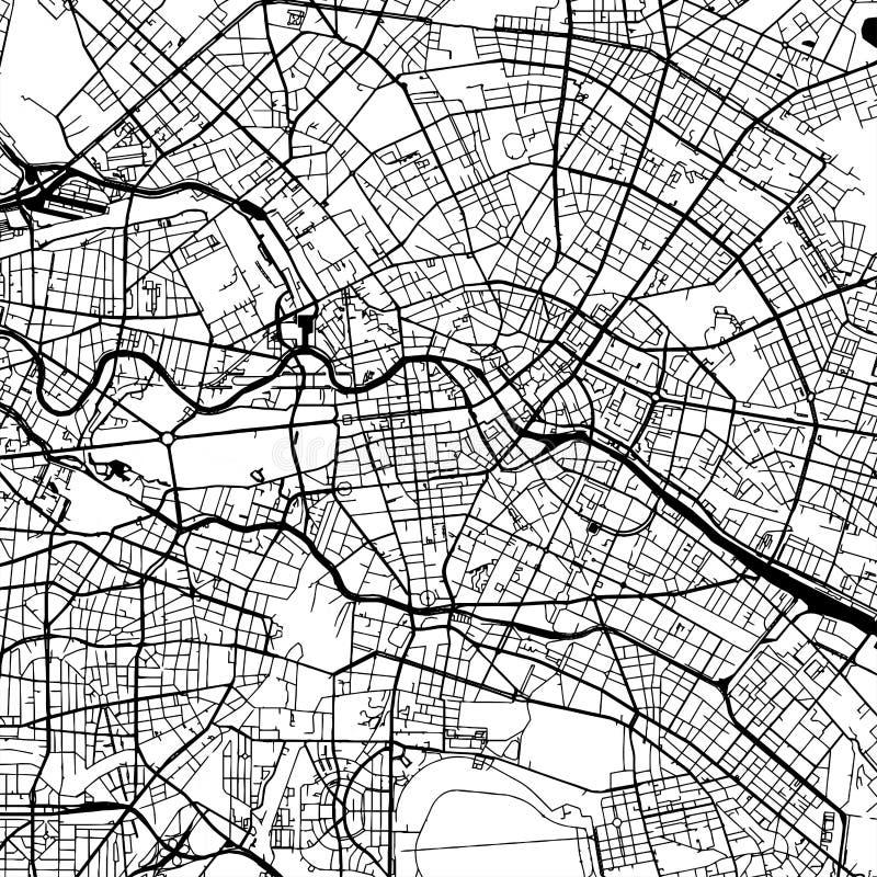 Berlin Germany Vetora Map ilustração royalty free