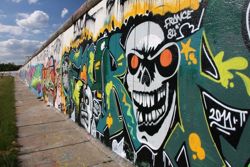 berlin grafittivägg arkivfoto