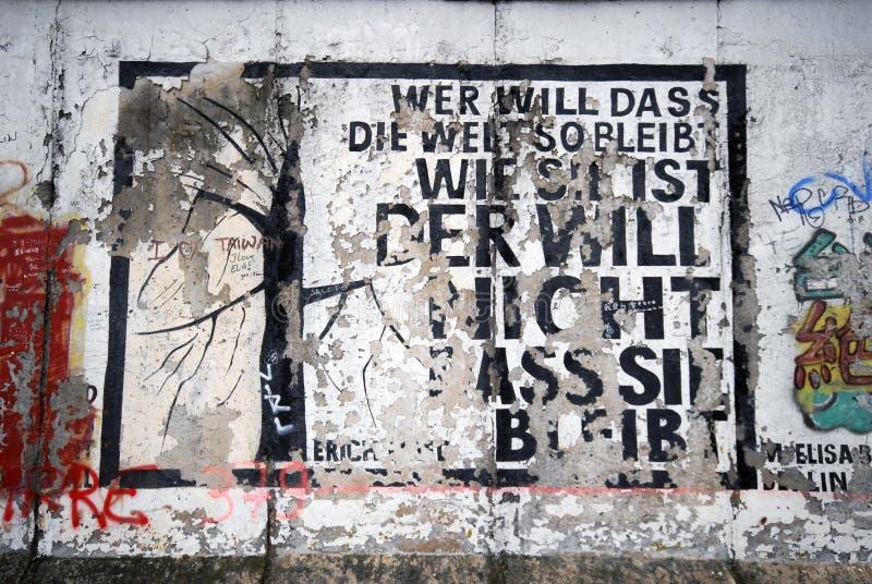 berlin grafittivägg arkivfoton