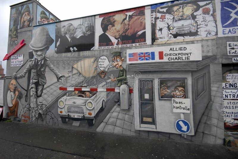 berlin grafittivägg arkivbild