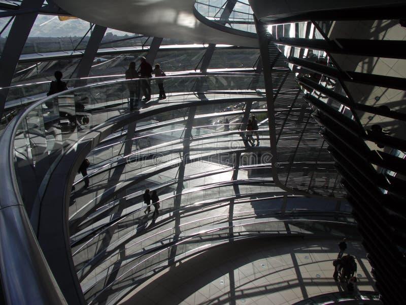 Berlin - Haube von Reichstag lizenzfreies stockfoto