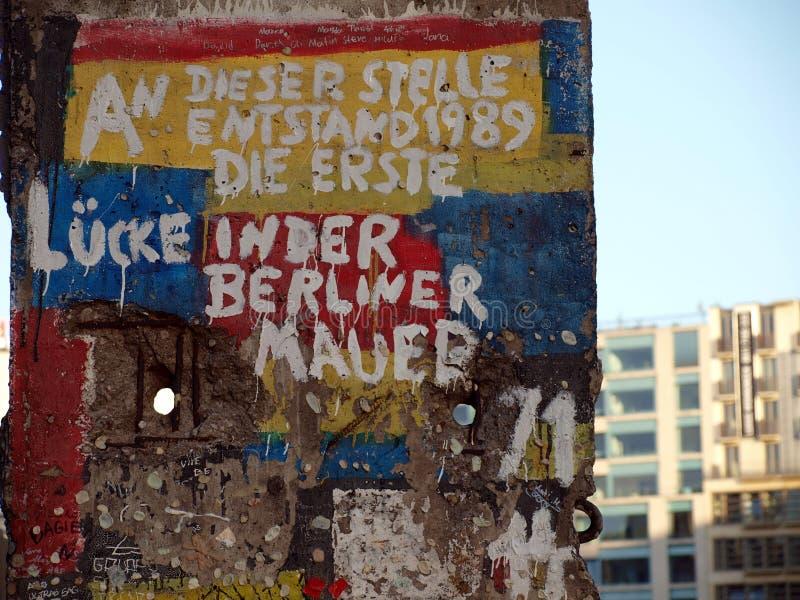 berlin historii ściana fotografia royalty free