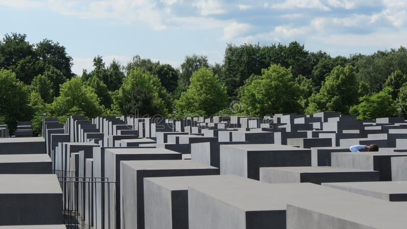 Berlin Holocaust Memorial foto de archivo