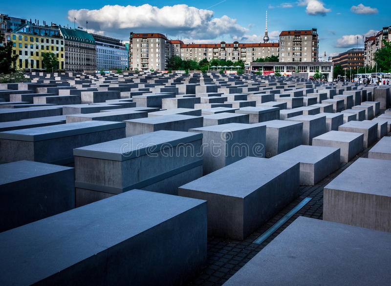 Berlin Holocaust Memorial fotografia stock