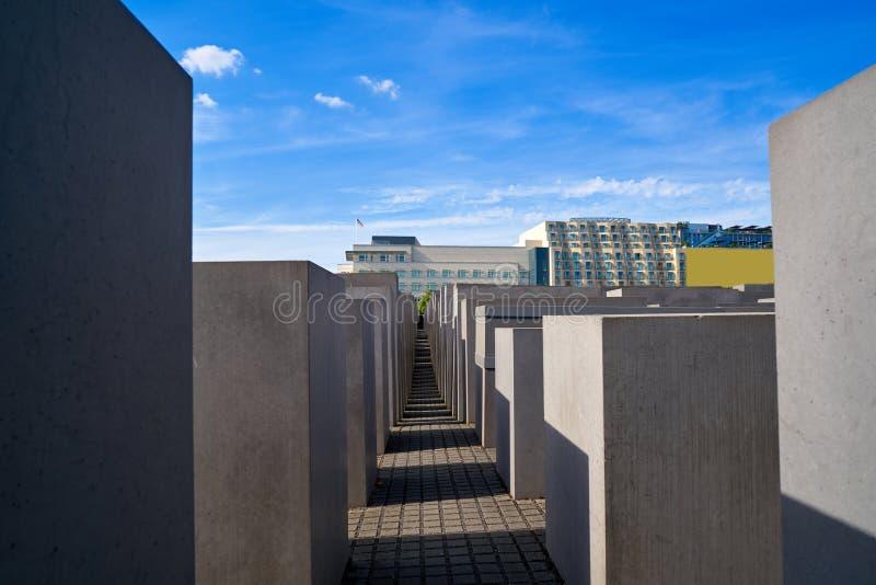 Berlin Holocaust Memorial aos judeus assassinados imagens de stock