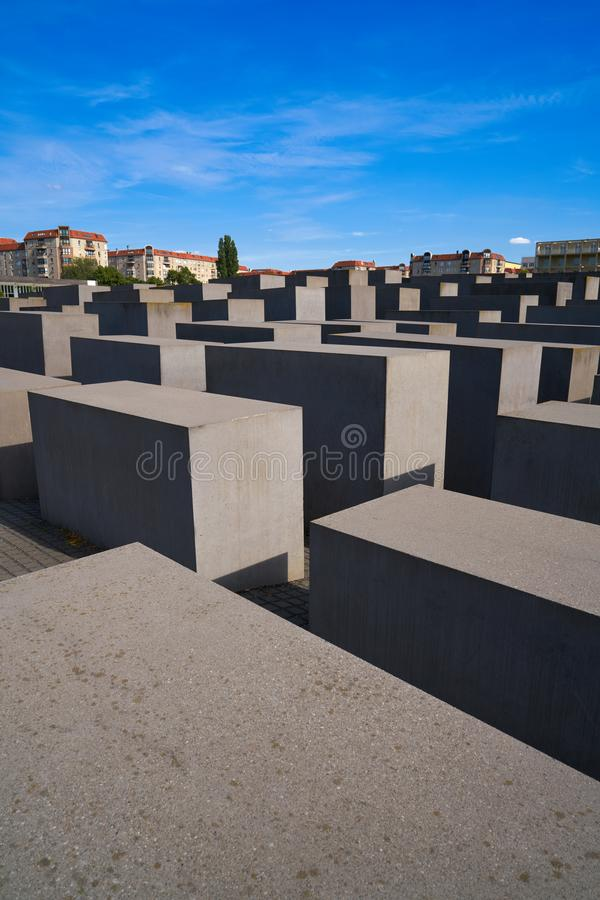 Berlin Holocaust Memorial aos judeus assassinados imagem de stock