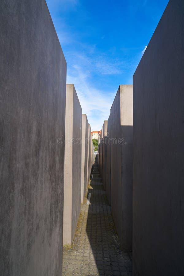 Berlin Holocaust Memorial aos judeus assassinados fotografia de stock royalty free