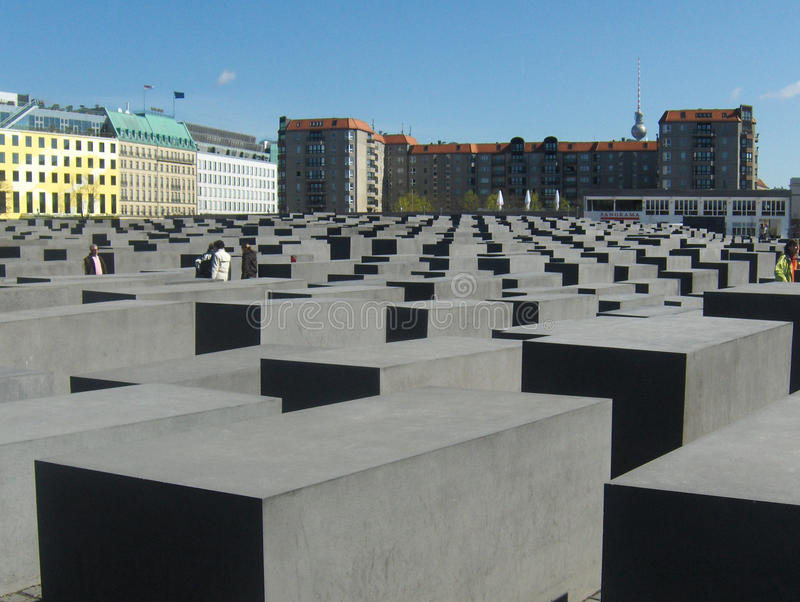 Berlin Holocaust Memorial, a Berlino, la Germania fotografia stock