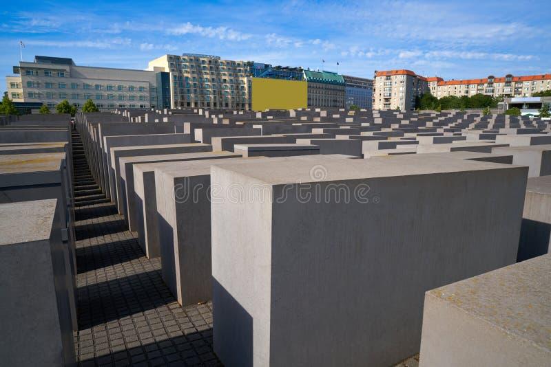 Berlin Holocaust Memorial a los judíos asesinados imagen de archivo