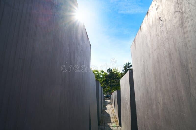 Berlin Holocaust Memorial a los judíos asesinados fotografía de archivo