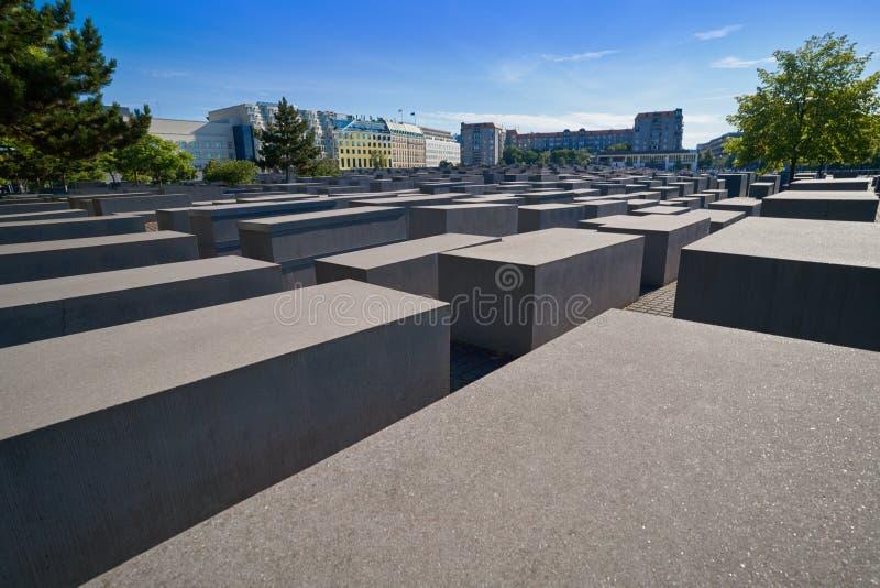 Berlin Holocaust Memorial a los judíos asesinados foto de archivo