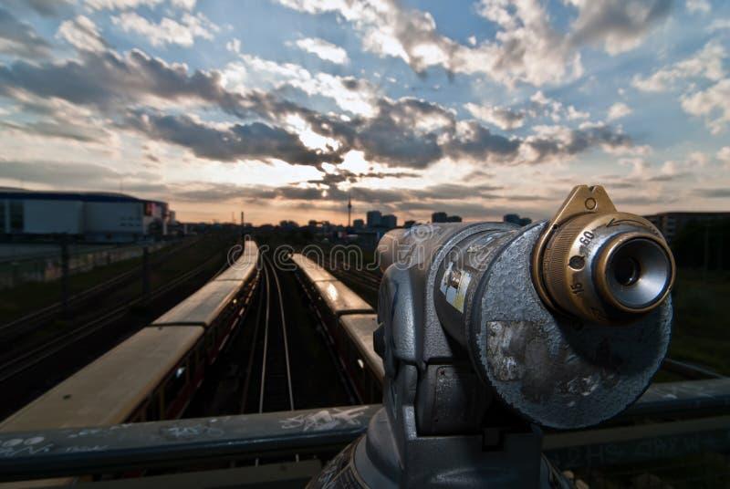 berlin horisontteleskop v1 arkivbild