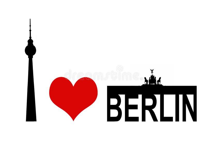 berlin ja kocham ilustracja wektor
