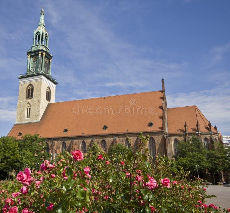 berlin kyrklig mary s st arkivbild