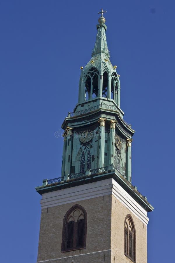 berlin kyrkligt mary s st-torn royaltyfri foto