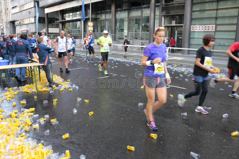 Berlin Marathon stock photo
