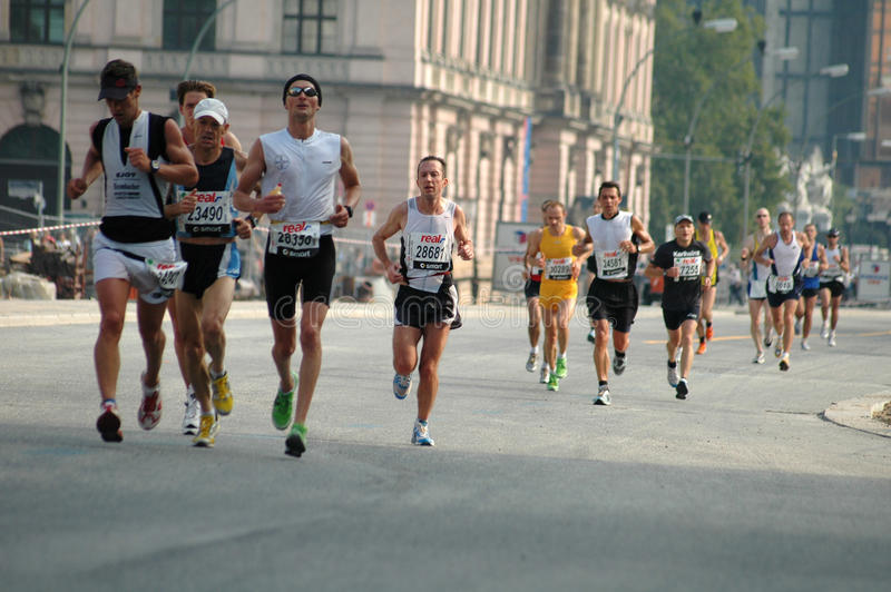 Berlin Marathon stock photography