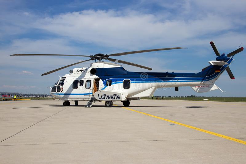 Eurocopter AS-532 helicopter stock image