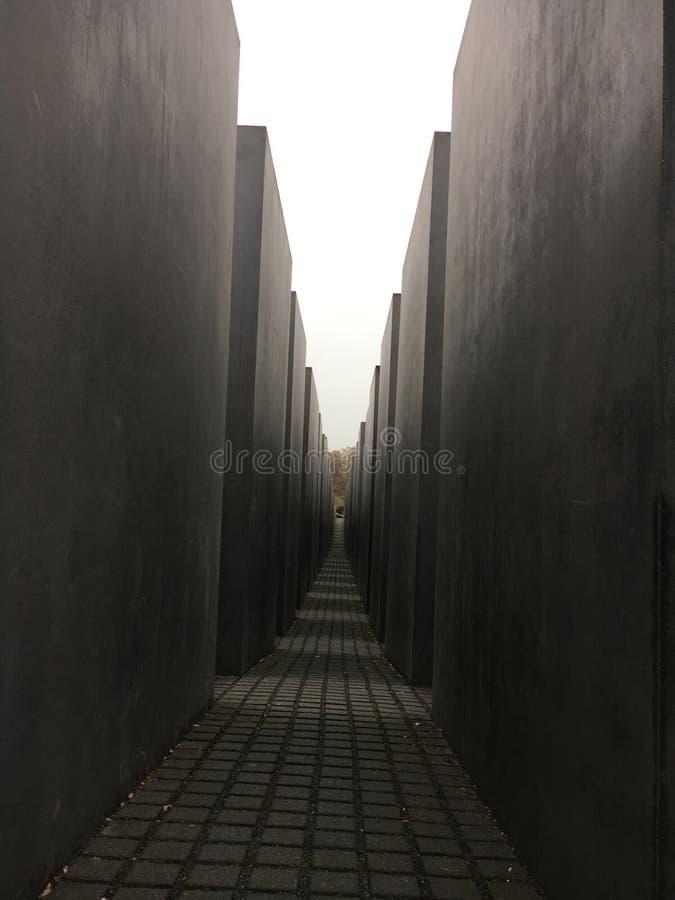 Berlin Memorial To de Moorde Joden stock afbeeldingen