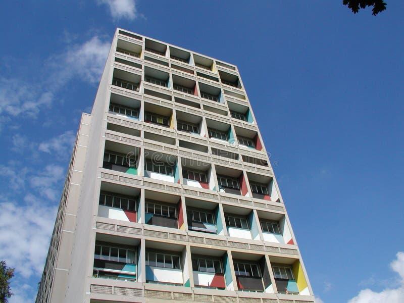 berlin mer corbusier D boning le maison enhet fotografering för bildbyråer