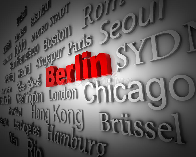 berlin metropolia royalty ilustracja