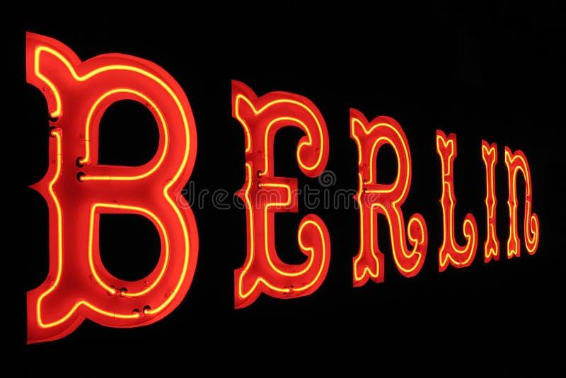 Berlin neontecken arkivfoto